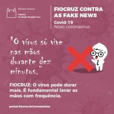 Esclarecimento sobre tempo de vida do vírus