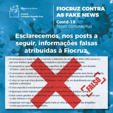 Desmentido de mensagem falsamente atribuída à Fiocruz