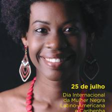Cartaz da campanha pelo Dia internacional da mulher negra, latino-americana e caribenha