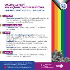 Encontro virtual Orgulho LGBTQIA+: a educação em tempos de resistência