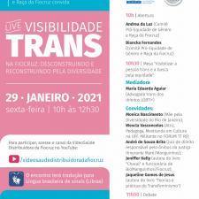 Visibilidade trans - cartaz de evento de janeiro de 2021