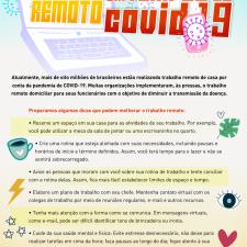 Infográfico apresenta dicas para trabalho remoto