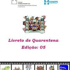 Capa do livreto da quarentena - Edição 05