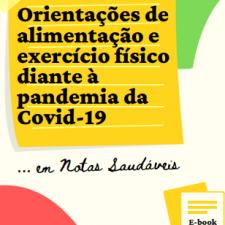 Capa do e-book 'Orientações de alimentação e exercício físico diante à pandemia da Covid-19'
