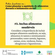 Card - Inclua alimentos saudáveis