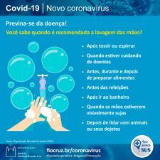 Infográfico sobre lavagem das mãos
