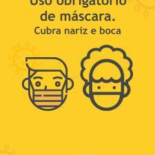Uso obrigatório de máscaras