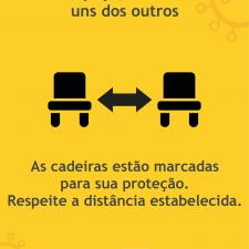 Cartaz com orientação para utilização dos carrinhos