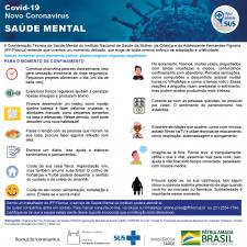 Informativo com dicas gerais sobre saúde mental