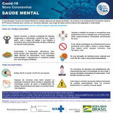Informativo com dicas gerais para trabalhadores e gestores sobre saúde mental