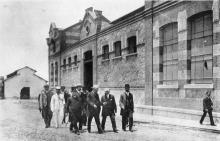 Foto de Oswaldo Cruz con el ex-presidente americano Theodore Roosevelt durante visita al Instituto Oswaldo Cruz. Rio de Janeiro, octubre de 1913