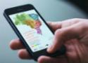 Mapa do Brasil visto na tela de um celular