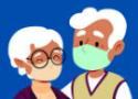 Desenho de um casal de idosos