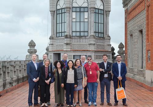 Dutch delegation visiting Fiocruz